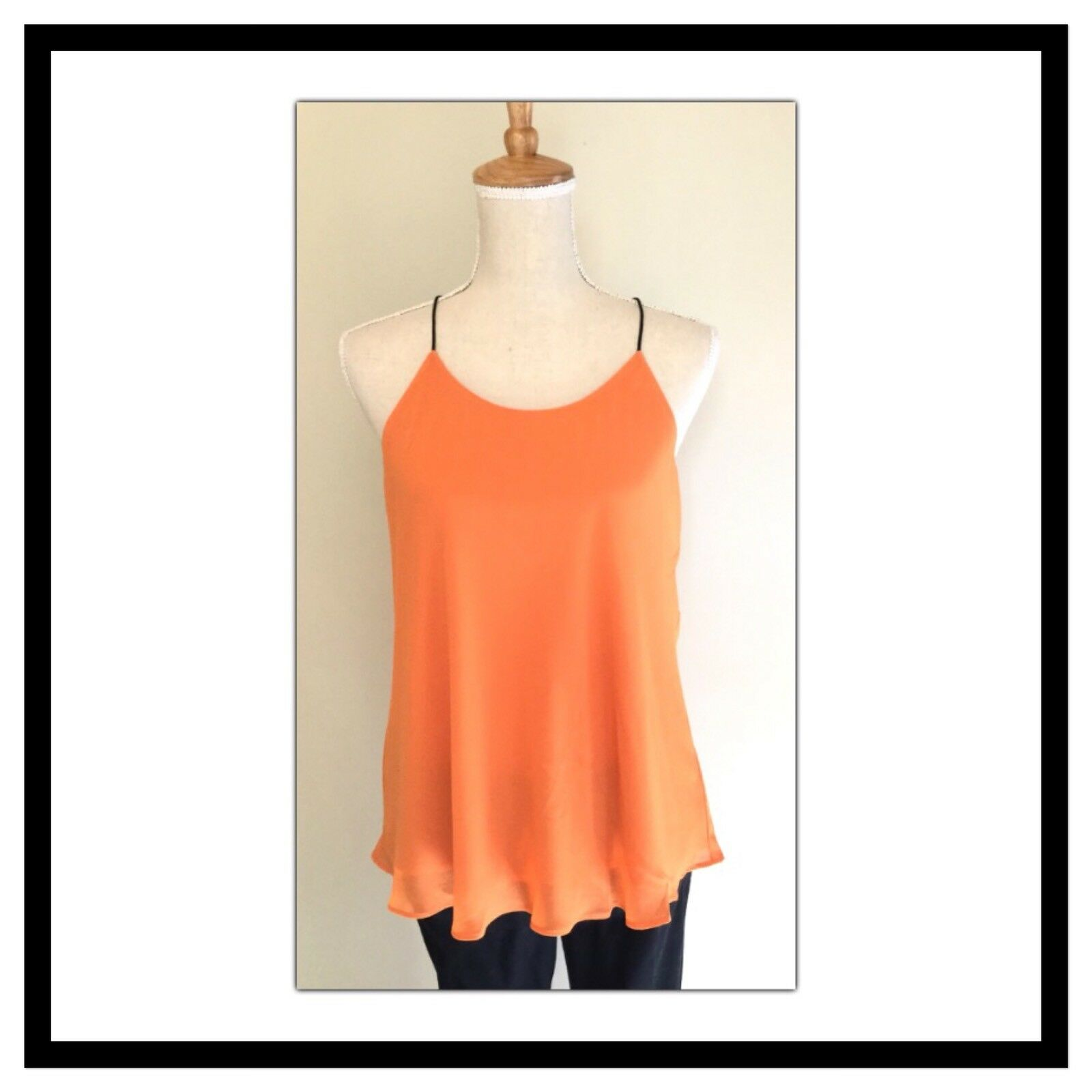 Naked Zebra Orange Racer Back Tank Top Größe Small New With Tags NWT