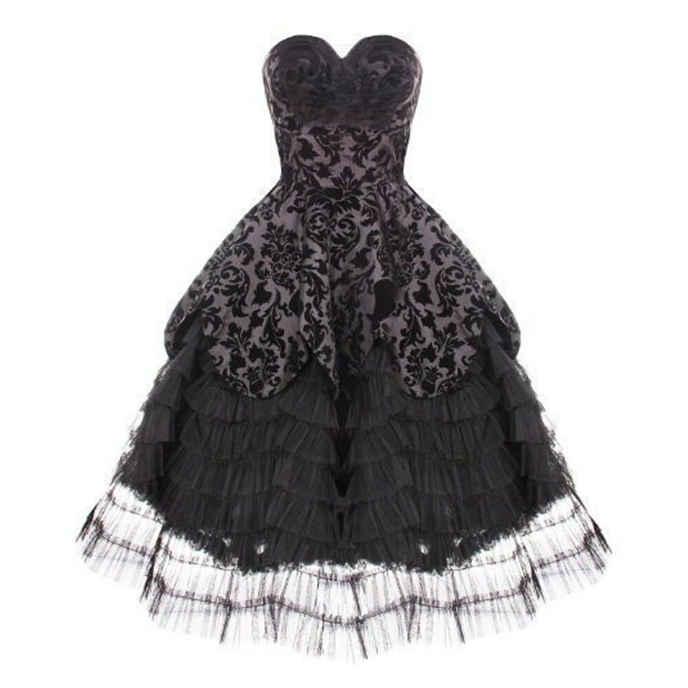 Miss lila's Vintage Victorian Dress   Größe 06-22   Hell Bunny Gothic Ball Gown