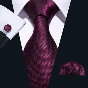 019e09718ce2 UK Men Tie Necktie Set Wind Red Burgundy Blue Silk Wedding Ties ...