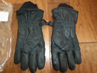 U.s Military Issue Black Leather Cold Weather Gloves Size 5 U.s.a Made X-large