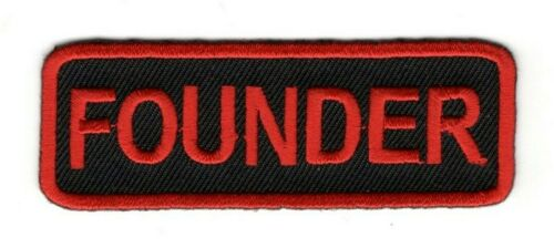 CHOPPER MOTORCYCLE BIKER CLUB IRON ON PATCH BRAND NEW FOUNDER RED