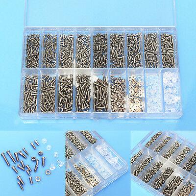 1000x Mini Schrauben Metall Set Mutter Uhrmacherschrauben für Brille Handy Uhren
