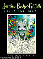 Jasmine Becket-griffith Coloring Book Fantasy Art Adventure 9 X 11 96 Pgs.