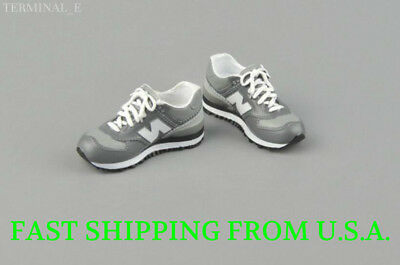 """1//6 Men Shoes Sneakers  For 12/"""" Phicen Hot Toys Custom Male Figure"""