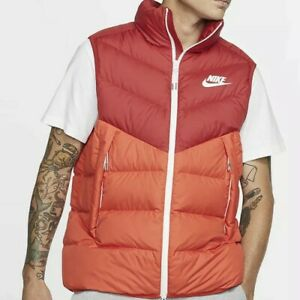 Nike-Down-Fill-Windrunner-Vest-Men-s-Size-S-Gym-Red-Habanero-Red-Sail-Jacket