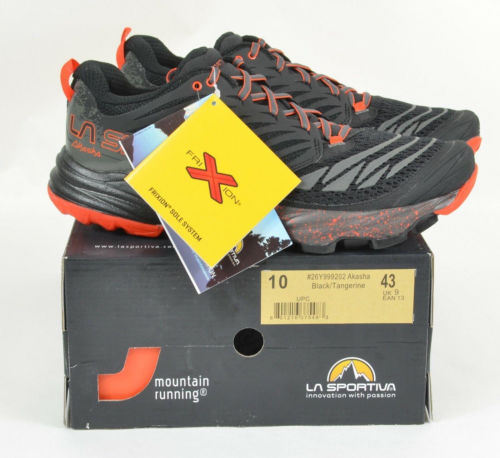 La Akasha Black 10 Shoes Trail Running Men's Tangerine Sportiva gyb6vYf7
