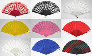 Handfaecher-Faecher-Taschenfaecher-Klappfaecher-verschiedene-Farben-NEU-OVP