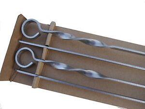 4-St-Grillspiesse-Schaschlikspiesse-Schampur-Fleischwender-70-cm-x-1-cm-x-3-mm