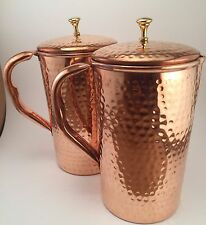 Pure Copper Hammered Water Jug | Copper Pitcher for Ayurveda Health Benef... New