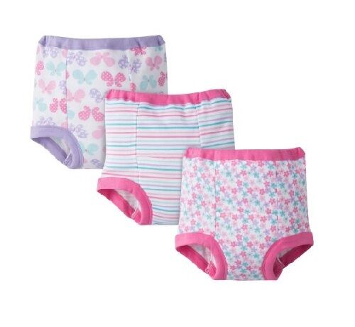 Gerber Baby and Toddler Girls 4 Pack Training Pants Butterfly 2T