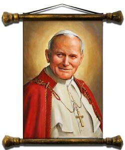 Religion-Pope-Johannes-Paul-2-Handmade-Oil-Painting-Oil-Frame-Pictures-G17386
