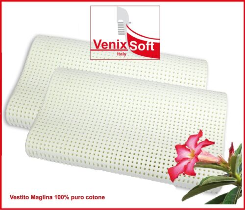 2 Two latex foam pillows VENIXSOFT orthopedic neck back support cushions