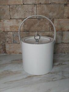 Vintage-Mid-Century-1960-039-s-Georges-Briard-White-Ice-Bucket-Retro-Classic
