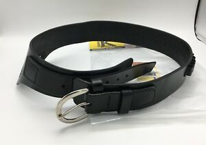 Triple-K-110-Wyoming-Leather-Holster-Drop-Loop-Belt-for-38-Cal-Black-PICK-SIZE