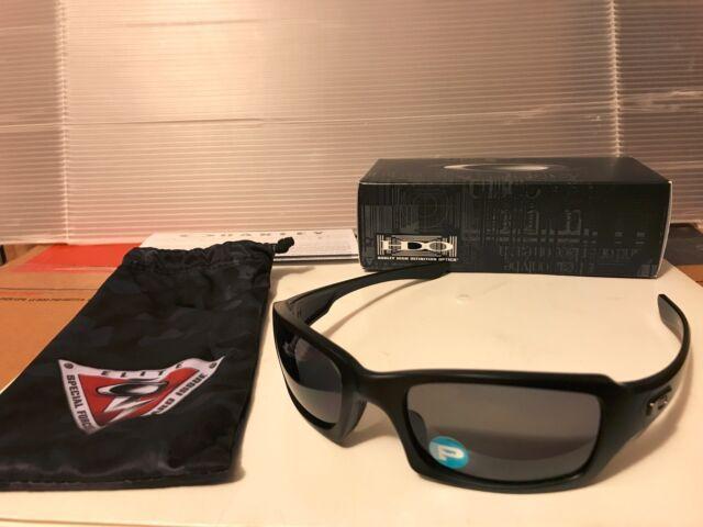 baf168d77d Oakley Fives Square Matte Black Sunglasses Gray Polarized Oo9238 11 ...