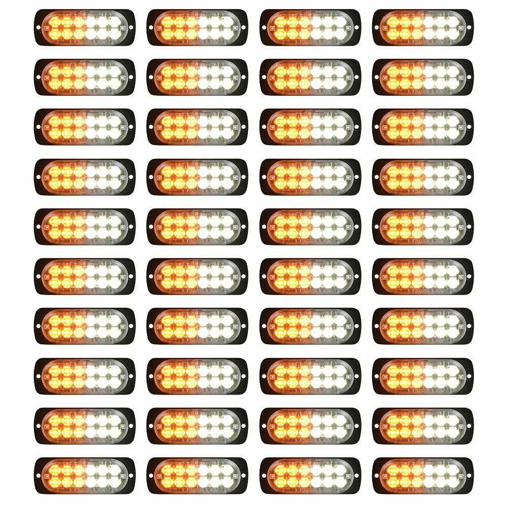4xStrobe Amber 12-LED Car Truck Emergency Beacon Warning Haz
