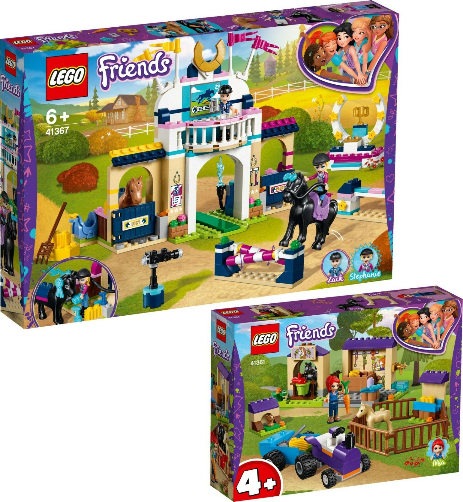 Lego Friends Stephanie REITTURNIER 41367 41361 Mias Poulain étable n1 19