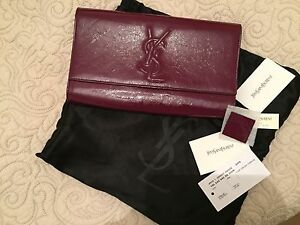 55e34fa2354a patent Yves Saint Laurent YSL SAC DE JOUR clutch bag. With ...