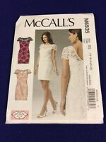M6505 Misses Lined Lace Overlay Dresses Sizes 14-22 Mccalls Pattern 6505
