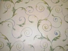 Textured Beige Wallpaper with Blue & Green Leaves by Norwall  OH48862