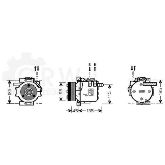 Compresor Aire Acondicionado de Mercedes-Benz SLK Sl R129 R170
