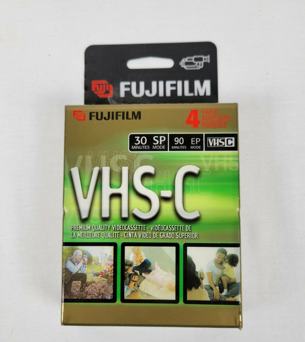 2 Fujifilm VHS-C TC-30 Blank Video Cassette Tapes For Camcorders Read