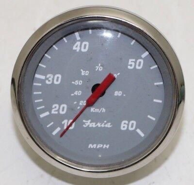 Faria SE9608A Powerquest 100 MPH Boat Speedometer Gauge