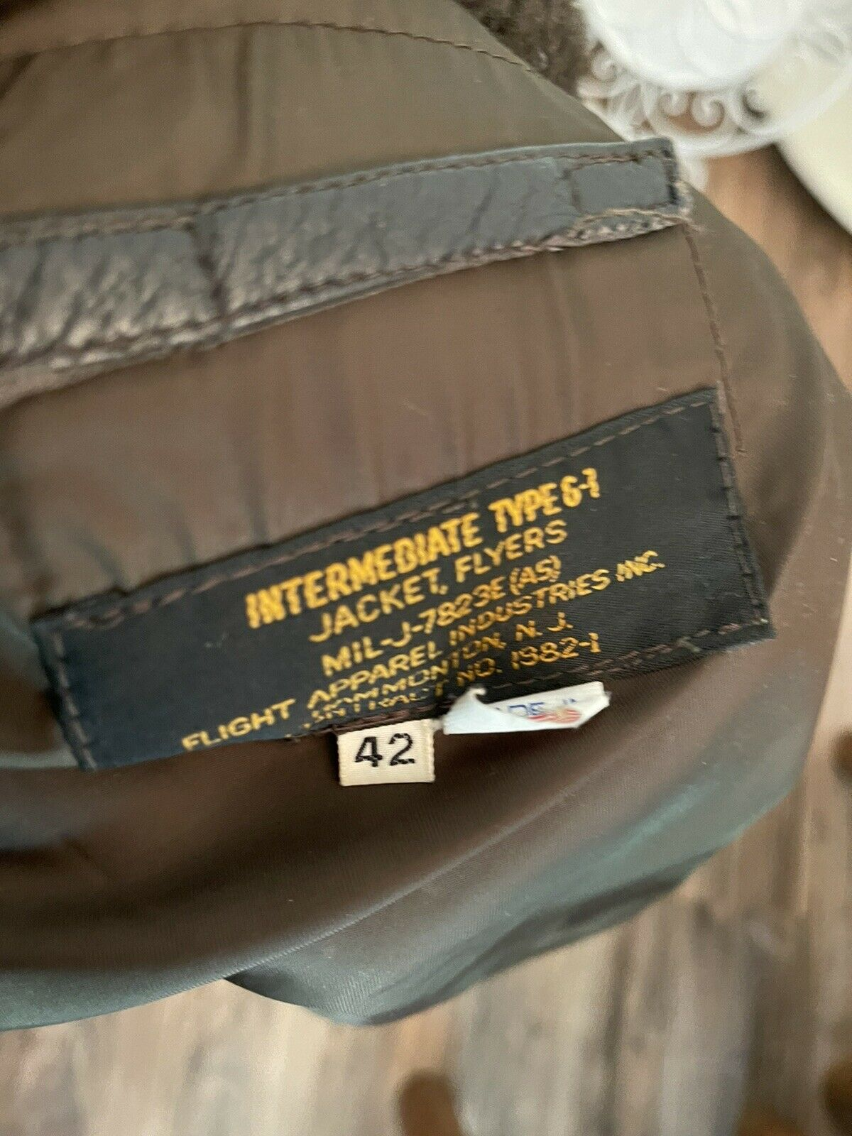 42 R Intermediate Type G-1 Brown Leather Flyers F… - image 9