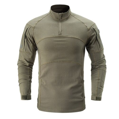Mens Military T-Shirts Tactical Combat Long Sleeve Army Casual Camouflage Hiking