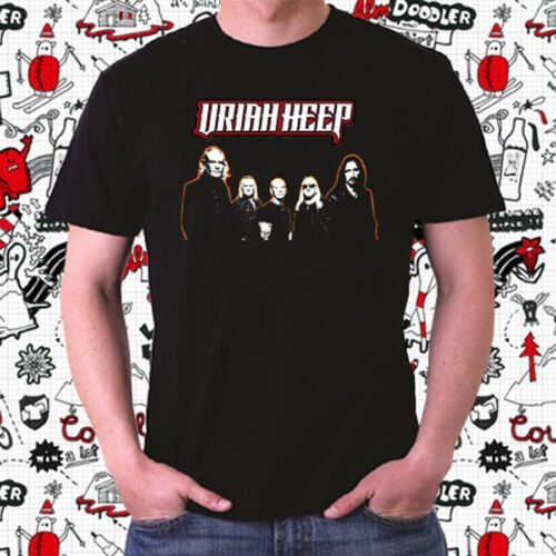 Uriah Heep Personels Rock Band Logo Men/'s Black T-Shirt Size S to 3XL