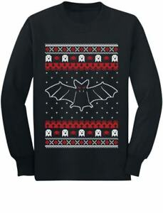 Cool Gothic Bats Ugly Christmas Sweater Long Sleeve T-Shirt Gift