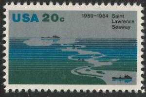 Scott-2091-St-Lawrence-Seaway-Aerial-View-20c-MNH-1984-unused-mint
