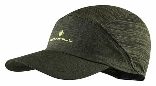 DarkKhaki//Acid *NEW* Ronhill Air Lite Lightweight Running Sports Cap