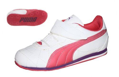Puma Esito 2S V Kids Baby Schuhe Mädchen Sneaker weiß-rosa Klettverschluss 19-22