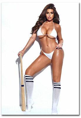 "Abigail Ratchford white bikini baseball Fridge Magnet Size 2.5/"" x 3.5/"""