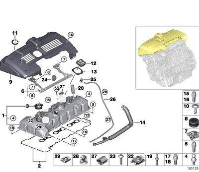 Genuine BMW N52 Engine Valve Cover ,Gasket , Bolts Kit E90,E91,E92,E93,E60,E61    eBay   Bmw N52 Engine Diagram      eBay