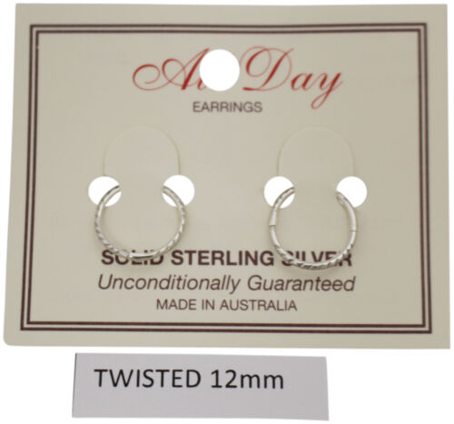 :Choose Your Style /& Size! All Day Sterling Silver Earrings Ear Rings Sleepers