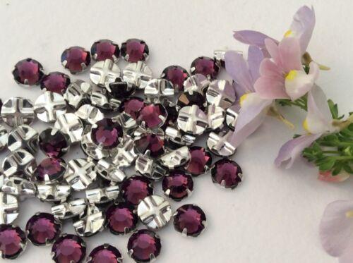 Preciosa rose montees amethyst 30ss prong set pack de 15 poste gratuite 6.3mm