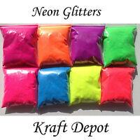NEON MATT GLITTER NON-TOXIC WINE GLASS NAIL ART CRAFT DUST IRIDESCENT 0.008 NEW!