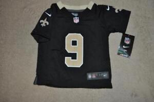 New Orleans Saints Drew Brees Nike Jersey  9 Kids Toddler Black NWT ... 5c2b9dc4a
