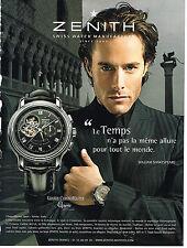 PUBLICITE ADVERTISING 094  2008  ZENITH  montre GRANDE CHRONOMASTER open VENISE