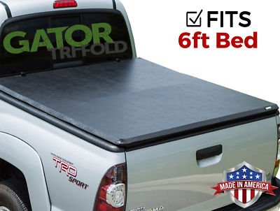 6ft Tri Fold Tonneau Cover Fit for 2016 2017 2018 TOYOTA Tacoma Truck Bed