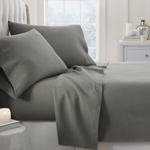Home Collection Premium 4 Piece Ultra Soft Flannel Bed Sheet Set