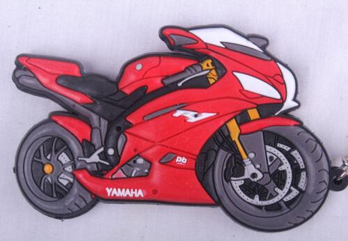 Yamaha YZF R1 1000 Red Keyring Keyfob Chain Ring Motorbike Engine Exhaust 3D