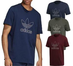 New-adidas-Originals-Mens-Outline-Trefoil-Logo-Cotton-T-Shirt-top-S-to-2XL