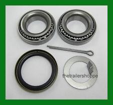 "Trailer Hub Wheel Bearing Kit 2000#  EZ Lube Axle Spindle 1 1/16"" L44649 Seal"