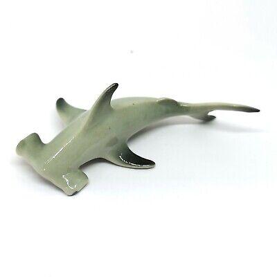 Porcelain Hand Paint Miniature Craft Collectible Reef Shark Fish Figurine
