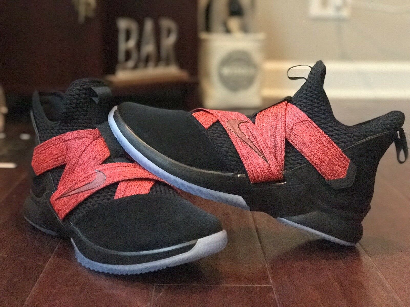 Nike LeBron Soldier 12 XII BRED BLACK RED AO2609-003 SIZE 13.5