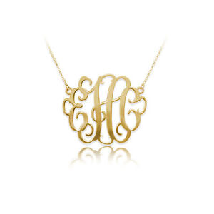 1-25-Inch-Monogram-Necklace-in-18k-Gold-Plated-Sterling-Silver-USA-Seller