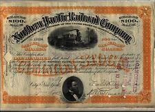 Northern Pacific Railroad Company Stock Certificate Orange